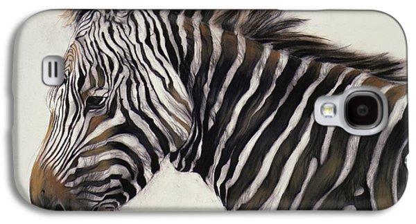 Zebra  Galaxy S4 Case by Odile Kidd