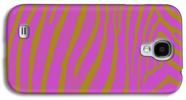 Zebra Digital Art Galaxy S4 Cases - Zebra Shmebra Galaxy S4 Case by Michelle Calkins