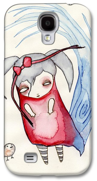 Girl Galaxy S4 Cases - Zeeroh Tew Galaxy S4 Case by Lindsey Cormier