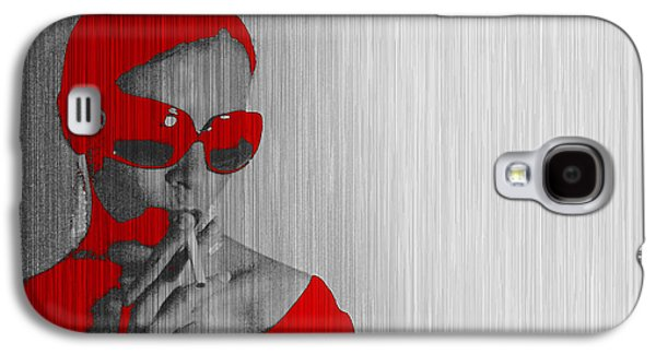Seductive Galaxy S4 Cases - Zoe in Red Galaxy S4 Case by Naxart Studio