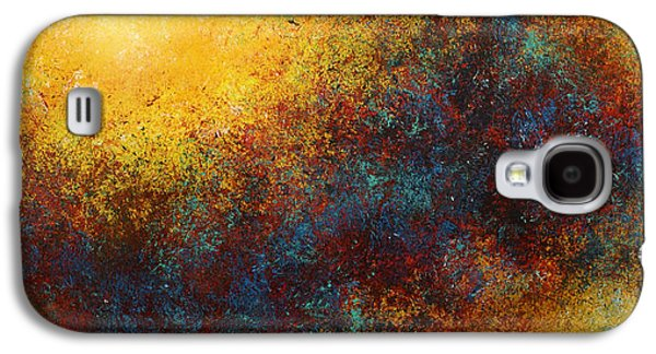 Cosmic Space Paintings Galaxy S4 Cases -   Children of the Sun  Galaxy S4 Case by Michael Lang