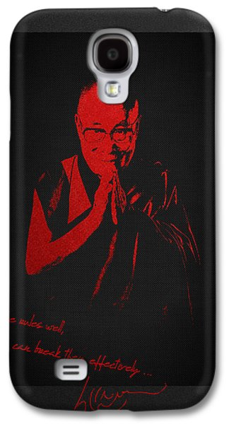Tibetan Buddhism Galaxy S4 Cases -  14th Dalai Lama Tenzin Gyatso - Know the rules well so you can break them effectively Galaxy S4 Case by Serge Averbukh
