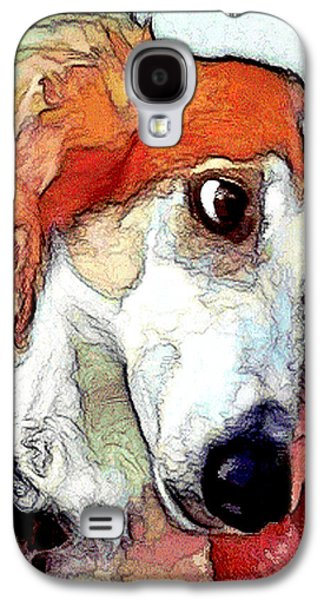 Puppies Digital Galaxy S4 Cases - # 21 Saluki dog Galaxy S4 Case by Alan Armstrong