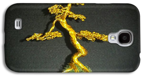 Etc. Sculptures Galaxy S4 Cases - # 70 Tiny little Brass Tree Sculpture Galaxy S4 Case by Ricks  Tree Art