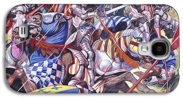 The Kings Paintings Galaxy S4 Cases -  Agincourt The Impossible Victory 25 October 1415 Galaxy S4 Case by Ron Embleton