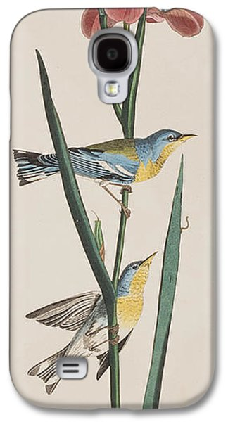 Blue Yellow-backed Warbler Galaxy S4 Case by John James Audubon