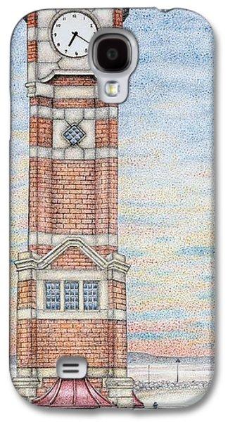 Weathervane Galaxy S4 Cases -  Clock Tower  Morecambe  Lancashire Galaxy S4 Case by Sandra Moore