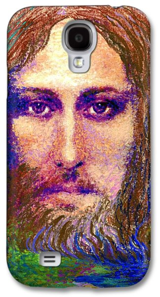 Contemporary Jesus Painting, Chalice Of Life Galaxy S4 Case by Jane Small