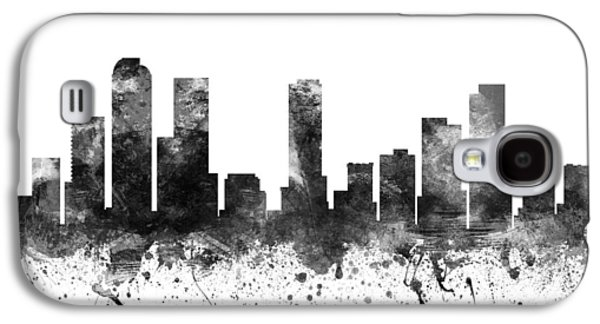 Skylines Drawings Galaxy S4 Cases -  Denver Colorado Cityscape 02BW Galaxy S4 Case by Aged Pixel