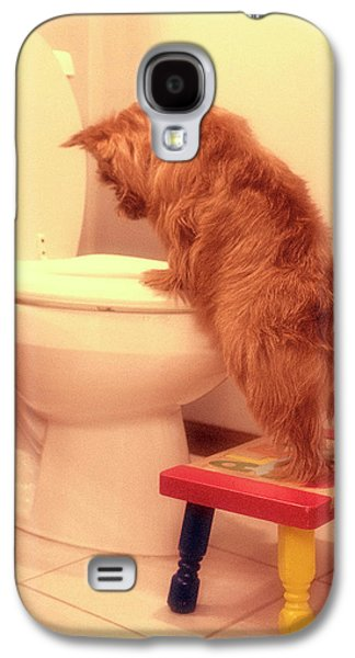 Recently Sold -  - Dogs Digital Galaxy S4 Cases -  Doggy Potty Training Time  Galaxy S4 Case by Susan Stone