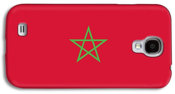 Moroccan Galaxy S4 Cases -  Flag of Morocco Galaxy S4 Case by Unknown