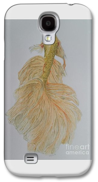 Golden Fish Paintings Galaxy S4 Cases -  Golden fish Galaxy S4 Case by Laura Banister