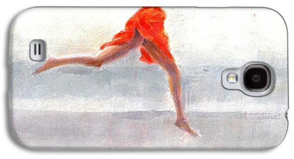 Robe Drawings Galaxy S4 Cases -  Juno on the Beach Galaxy S4 Case by Lincoln Seligman