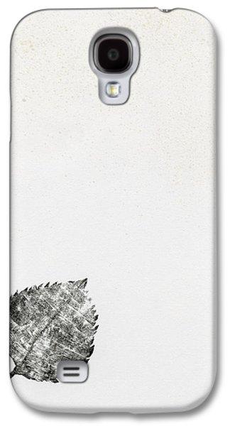 Leaf Drawings Galaxy S4 Cases -  Leaf Galaxy S4 Case by Bella Larsson