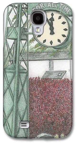 Industrial Drawings Galaxy S4 Cases -  Leyland Motors Clock Kendal Cumbria Galaxy S4 Case by Sandra Moore