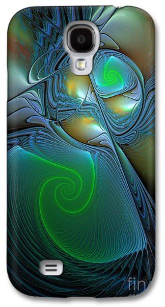 Gold Lime Green Galaxy S4 Cases -  Light In The Dark Galaxy S4 Case by Deborah Benoit