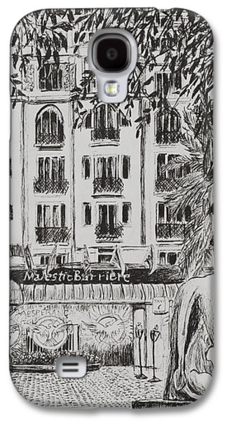 Pen And Ink Drawing Drawings Galaxy S4 Cases -  Majestic  Cannes Galaxy S4 Case by Vincent Alexander Booth