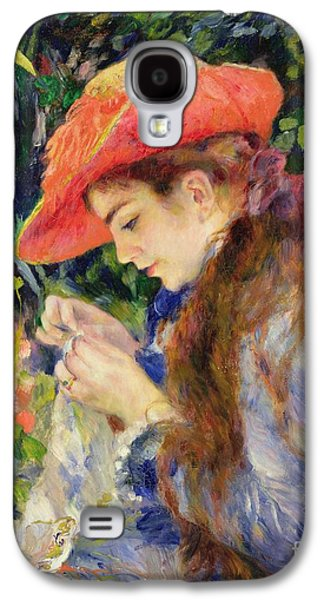 Marie Therese Durand Ruel Sewing Galaxy S4 Case by Pierre Auguste Renoir