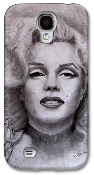 Jack Skinner Drawings Galaxy S4 Cases -  Marilyn Galaxy S4 Case by Jack Skinner