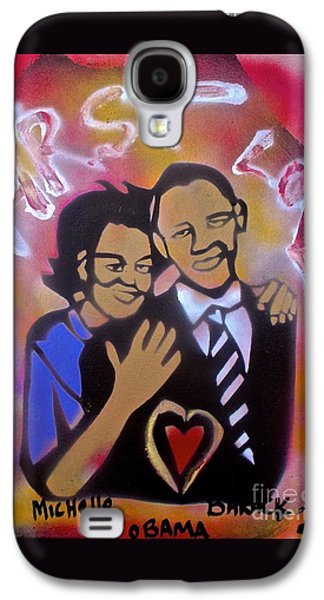 Michelle Obama Paintings Galaxy S4 Cases -  Obama First Love... Galaxy S4 Case by Tony B Conscious