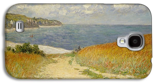 Pathway Paintings Galaxy S4 Cases -  Path in the Wheat at Pourville Galaxy S4 Case by Claude Monet