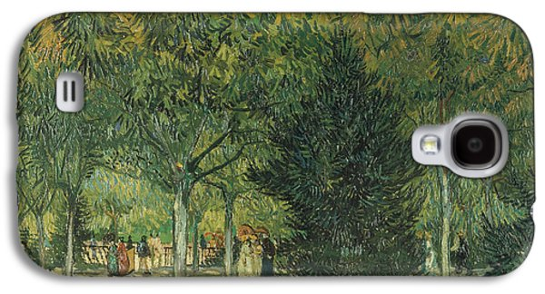 Arles Galaxy S4 Cases -  Promenaders Galaxy S4 Case by Vincent van Gogh