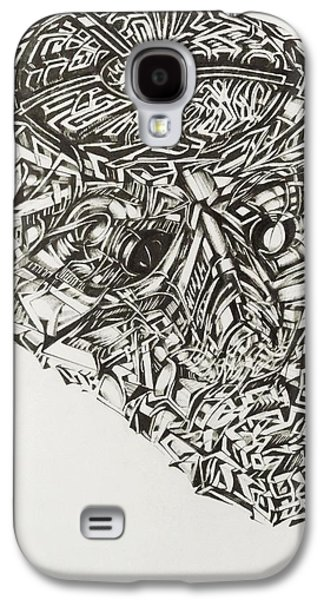Abstract Digital Drawings Galaxy S4 Cases -  Trying get to the inside  Galaxy S4 Case by The Door Project
