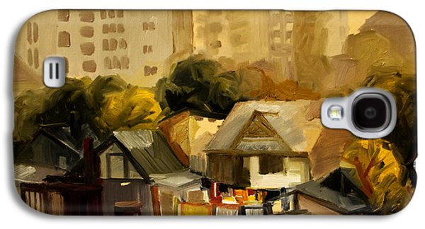Urban Nature Study Paintings Galaxy S4 Cases -  Urban Landscape Galaxy S4 Case by Ion Mihalache
