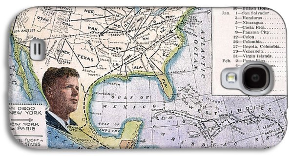 Charles River Paintings Galaxy S4 Cases - Charles Lindbergh Galaxy S4 Case by Granger