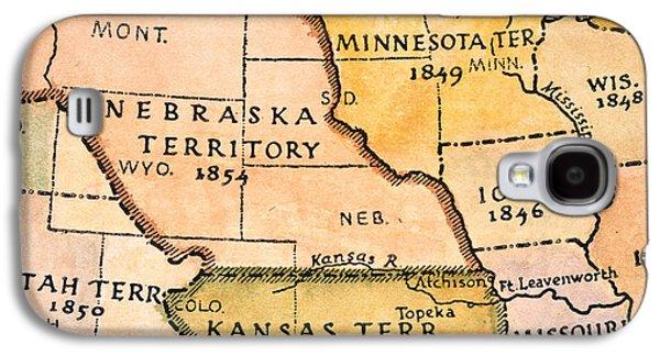 Abolition Galaxy S4 Cases - Kansas-nebraska Map, 1854 Galaxy S4 Case by Granger