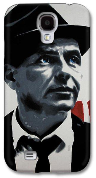 Frank Sinatra Paintings Galaxy S4 Cases - - Sinatra - Galaxy S4 Case by Luis Ludzska