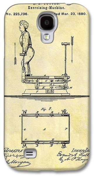 1880 Exercise Machine Patent Galaxy S4 Case by Dan Sproul