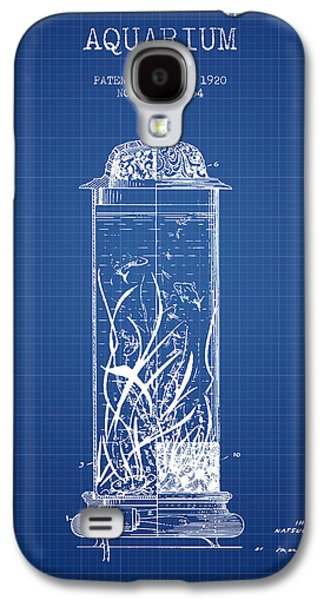 Aquarium Fish Galaxy S4 Cases - 1902 Aquarium Patent - Blueprint Galaxy S4 Case by Aged Pixel