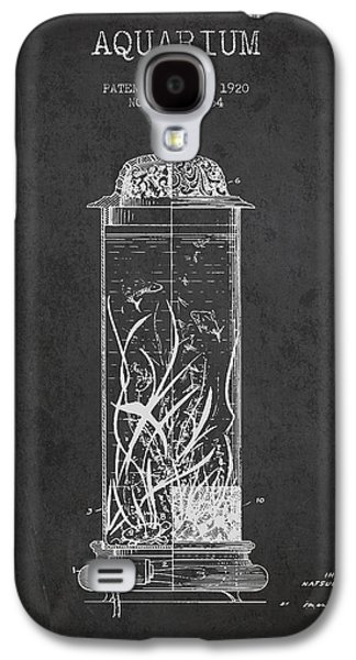 Aquarium Fish Galaxy S4 Cases - 1902 Aquarium Patent - Charcoal Galaxy S4 Case by Aged Pixel