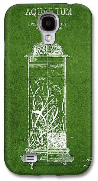 Aquarium Fish Galaxy S4 Cases - 1902 Aquarium Patent - Green Galaxy S4 Case by Aged Pixel