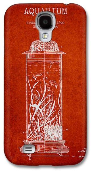 Aquarium Fish Galaxy S4 Cases - 1902 Aquarium Patent - Red Galaxy S4 Case by Aged Pixel