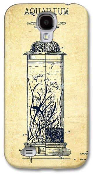 Aquarium Fish Galaxy S4 Cases - 1902 Aquarium Patent - Vintage Galaxy S4 Case by Aged Pixel