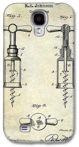 1907 Galaxy S4 Cases - 1907 Corkscrew Patent  Galaxy S4 Case by Jon Neidert