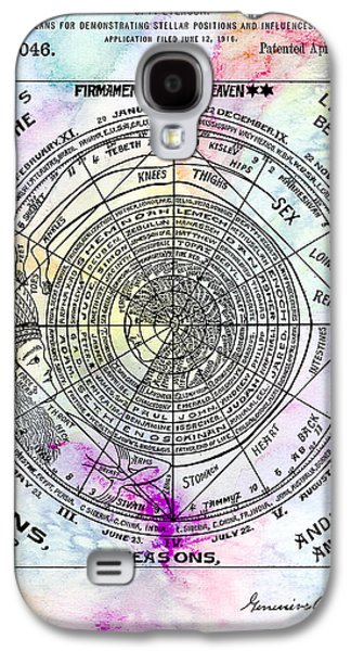 Astrology Galaxy S4 Cases - 1919 Astrology Patent Colorful Galaxy S4 Case by Jon Neidert
