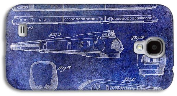 Train Photographs Galaxy S4 Cases - 1936 Train Patent Blue Galaxy S4 Case by Jon Neidert