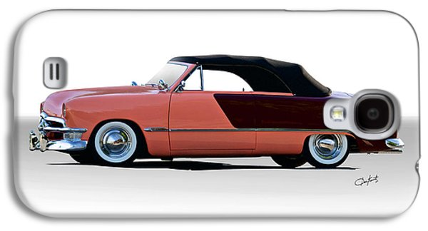 Slam Galaxy S4 Cases - 1950 Ford Custom Convertible Galaxy S4 Case by Dave Koontz