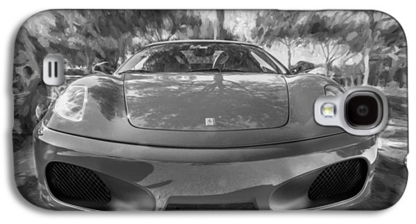 2009 Galaxy S4 Cases - 2009 Ferrari F430 Spider Convertible Painted BW Galaxy S4 Case by Rich Franco