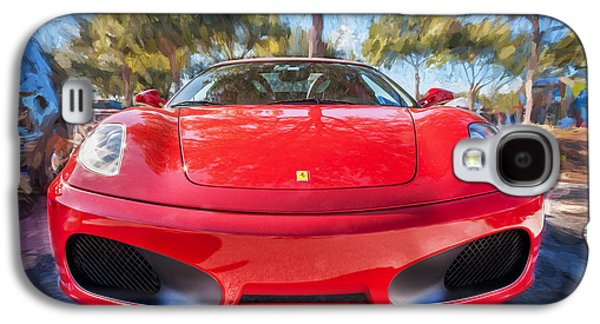2009 Galaxy S4 Cases - 2009 Ferrari F430 Spider Convertible Painted  Galaxy S4 Case by Rich Franco