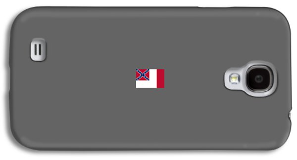 Waving Flag Mixed Media Galaxy S4 Cases - 3d Confederate Flag Galaxy S4 Case by Frederick Holiday