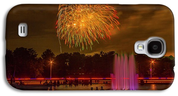 4th Of July Fireworks In Forest Park Galaxy S4 Case by Garry McMichael
