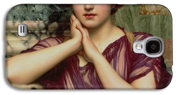 Alluring Paintings Galaxy S4 Cases - A Classical Beauty Galaxy S4 Case by John William Godward
