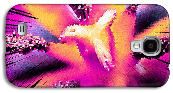 Abstract Digital Paintings Galaxy S4 Cases - Abstract Flower Macro Galaxy S4 Case by Bruce Nutting