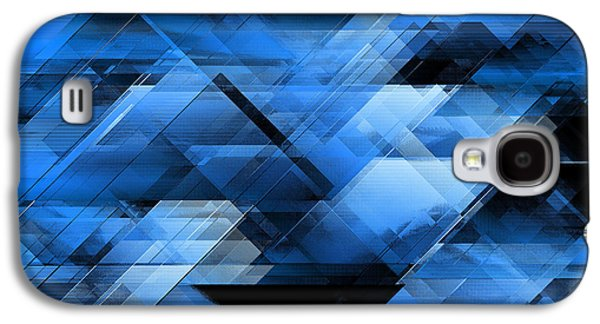 Algorithmic Abstract Galaxy S4 Cases - Abstract geometric blue Galaxy S4 Case by Gaspar Avila