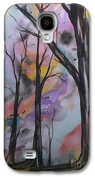 Nature Abstracts Galaxy S4 Cases - Abstract Trees Galaxy S4 Case by Ginny Youngblood