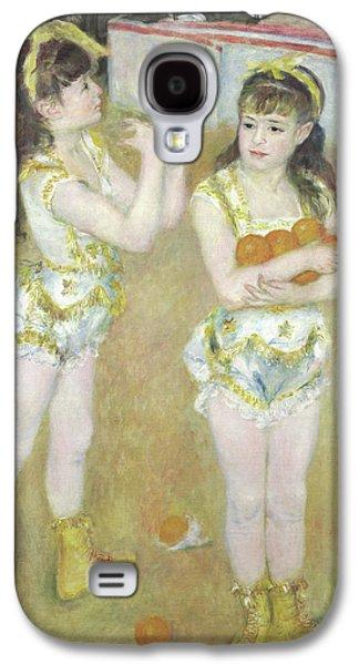 Acrobats At The Cirque Fernando, Francisca And Angelina Wartenberg Galaxy S4 Case by Pierre Auguste Renoir